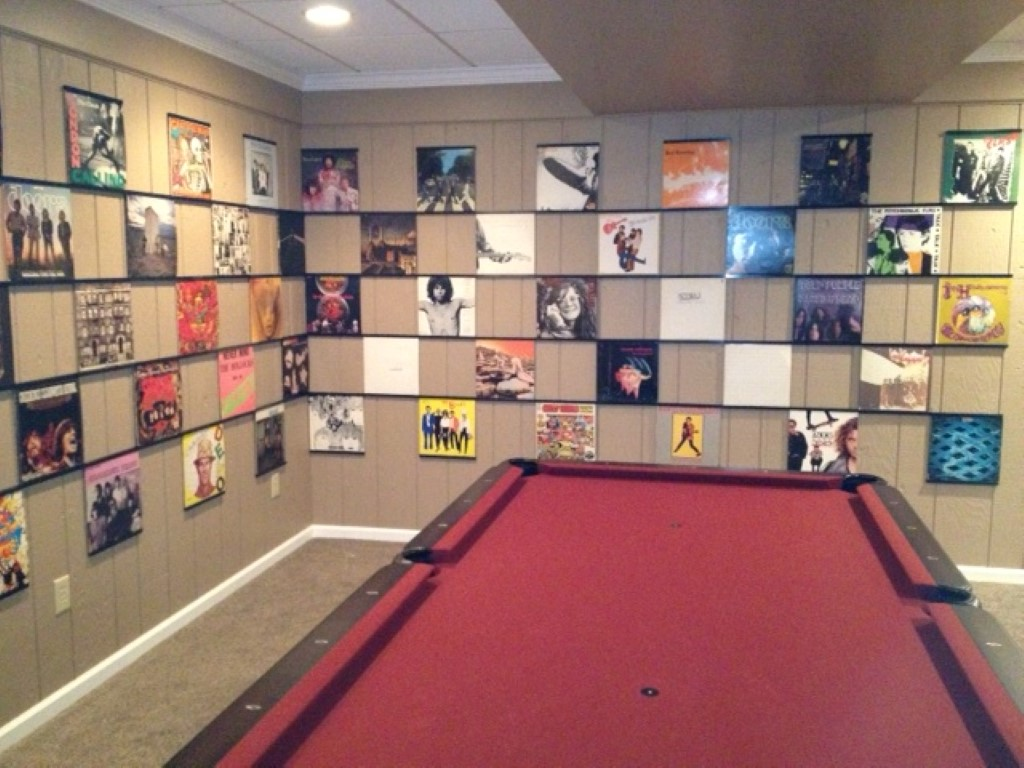 New vinyl display frame a huge load of recent vintage and for Vinyl records decorations for wall